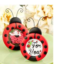 Adorable Ladybug Photo and Place Card Frame