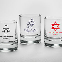 Personalized Votive Holder with Religious Design