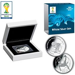 Official Silver Coin of the 2014 FIFA Soccer World Cup