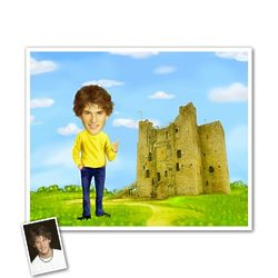 Irish Castle Caricature Framed Art Print