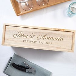 Time to Remember Custom Wooden Wine Gift Box