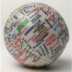 New York City Map Baseball