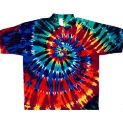 Extreme Rainbow Tie Dye Sport Shirt