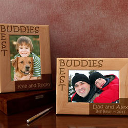 Personalized Best Buddies Wooden Picture Frame