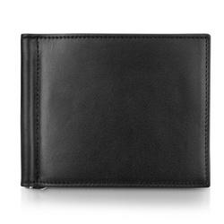 Black Calfskin Money Clip Wallet