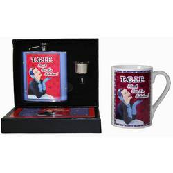 T.G.I.F. Flask & Mug Gift Set