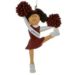 Personalized Cheerleader in Red Ornament