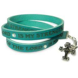 Joy of the Lord Leather Wrap Bracelet