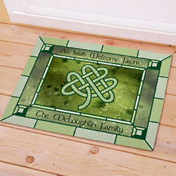 Personalized Irish Celtic Knot Doormat