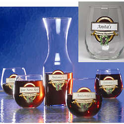 Private Reserve Goblet and Carafe Set