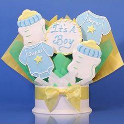It's a Boy Five Piece Cookie Bouquet