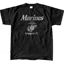 US Marine Corps Reflective Black T-shirt