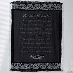 Personalized Graduation Scroll Afghan Blanket
