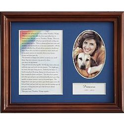 Personalized Rainbow Bridge Female Pet Frame