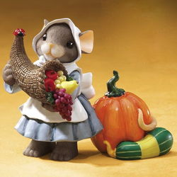 Holding a Harvest of Good Things for You Figurine