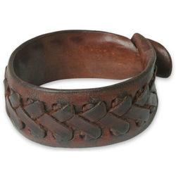 Men's Chiang Rai Paths Leather Wristband Bracelet