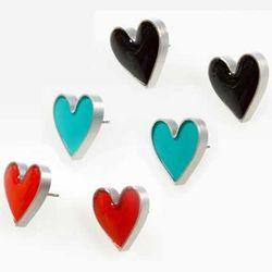 Heart Shaped Aluminum Earrings