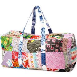 Upcycled Cotton Sari Duffle Bag