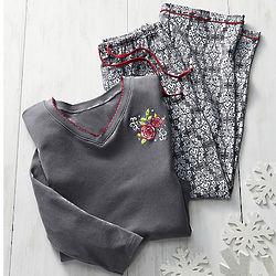 Misses Damask Pajama Set