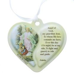 Guardian Angel Heart Crib Medal