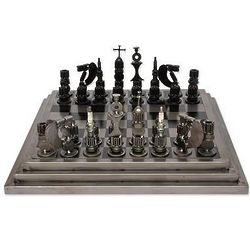 Rustic Warriors Upcycled Auto Part Chess Set