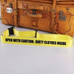 Open With Caution Bag Tag