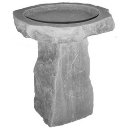 Cast Stone Bird Bath with Base