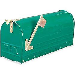 Large Green Enamel Mailbox