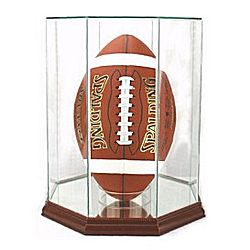 Engraved Upright Football Display Case