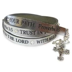 Trust in the Lord Leather Wrap Bracelet