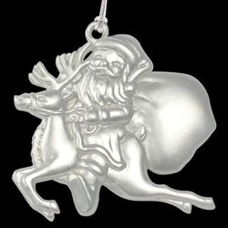 Personalized Santa and Reindeer Ornament