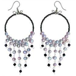 Harmony of Black Pearl Chandelier Earrings