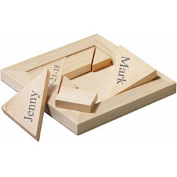 The Perfect Fit Bride and Groom Wood Puzzle