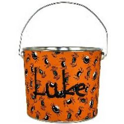 Personalized Itsy Bitsy Spider Trick or Treat Bucket
