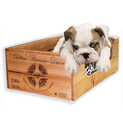 Personalized Wine Crate Small Pet Bed