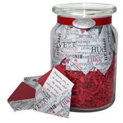 'Expressions of Love' Jar of Messages in Mini Envelopes