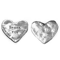 Thank You Heart-Shaped Paperweight