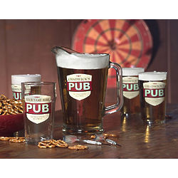Personalized No Half Pint Lager Glasses