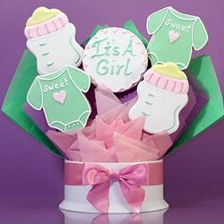 It's a Girl Five Piece Cookie Bouquet
