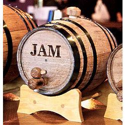 1 Liter Black Hoop Mini Whiskey Barrel