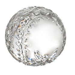Engravable Waterford Baseball Paperweight
