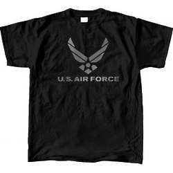 US Air Force Reflective Black T-Shirt