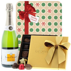 Veuve Clicquot Demi-Sec Champagne and Godiva Chocolate