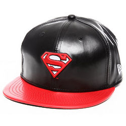 Superman Leather Duo Chrome Snapback Hat