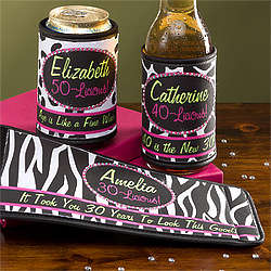 Flirty-Licious Birthday Rhinestone Can and Bottle Wrap