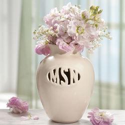 Handcrafted Monogram Vase