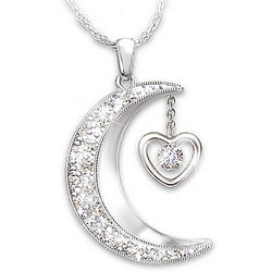 I Love You to the Moon and Back Daughter's Diamond Necklace
