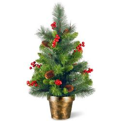 Small Artificial Christmas Tree with Clear Lights