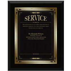 Ebony Service Award Plaque