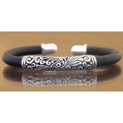 Frangipani Sterling Silver Cuff Bracelet